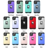 Coches d'armure Couverture avec voiture Magnetic Kickstand support Stand 2In1 pour iPhone13 12 Mini Pro Max 11 XR XS 8 Samsunggalaxys21 Ultra plus S20 S20 S10 Note20 A12 A21S A20 A31 LG Moto