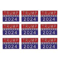 Trump 2024 Presidential Election Brooch Party Supplies U.S. Patriotic Republican Campaign Metal Pin Badge GWD10052