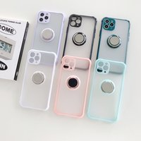 High quality Transparent shockproof cell Phone Cases for HUAWEI IPhone Samsung Round ring stand waterproof two-in-one TPU PC smart phone case