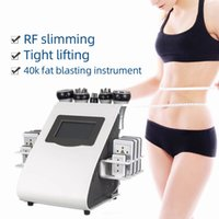 2021 New Arrival 6 In 1 40K Ultrasonic Cavitation Vacuum Radio Frequency Laser 8 Pads Lipo Laser Slimming Machine for Home Use