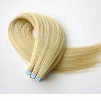 50 g 20 pz nastro nelle estensioni dei capelli umani 18 20 22 24 pollici # 613 Beach Blonde Bionda Adesivo Pelle WeFts PU nastro adesivo capelli umani