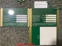 Großhandel grüne sicherheit garantie karte benutzerdefinierte druckmodell serielle nummer garanty card watch box uhr etikett