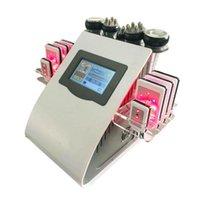 40k 6 in 1 Ultrasuoni Liposuzione Pressione negativa Dual-Color Radio Frequency Strument Strumentario Laser perdita di peso perdita di peso in fibra