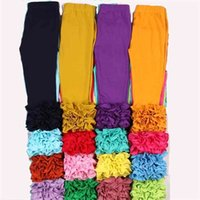 Mudbala Boutique Bambino ragazze Triplo Ruffle Glassa Leggings Baby Girl Abbigliamento Complesso Pantaloni in cotone solido in cotone 210805