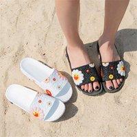 Donne Summer Pantofole Carino Fiore Signore Diapositive morbide Scarpe da donna stampa Femminile Stampa floreale Bling Bling Beach Sandali casual