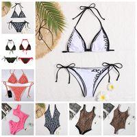 F مثير مصمم المايوه الصلبة بيكيني مجموعة ملابس السباحة المنسوجات منخفضة الخصر الدعاوى الدعاوى شاطئ ارتداء 2021 بدلة السباحة للنساء