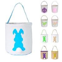 الفصح البيض تخزين سلة قماش الأرنب الأذن دلو الإبداعية هدية عيد الفصح حقيبة مع أرنب الذيل الديكور هدية حقيبة W-00732