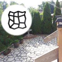 다른 정원 건물 DIY 플라스틱 포장 벽돌 콘크리트 스테핑 스톤 시멘트 금형 포장 도로 금형 경로 메이커