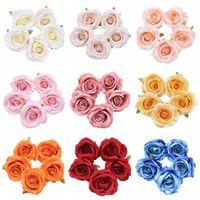 Decorative Flowers & Wreaths 5 10pc 10cm Big Flower Head Artificial Rose Silk Fake For Wedding Birthday Party Decoration Home Decor