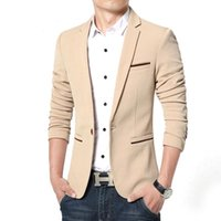 Men's Suits & Blazers Spring Autumn Luxury Men Blazer 2021 Casual Business Cotton Slim Fit Suit Jacket Male Plus Size M-5XL Masculino