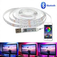 LED-Streifen-Licht 1m / 2m / 3m / 4m / 5m 5050 DC5V Wasserdichte USB-flexible RGB-TV-Streifen-Hintergrundbeleuchtung Bluetooth-App-Steuerband-Leuchten