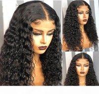 Celebrity Perücke Lace Front Perücken Tiefe Curl Natürliche Farbe 10A Grade Brasilianische Jungfrau Menschliches Haar Full Spitze Perücken für schwarze Perücke Kostenloser Versand