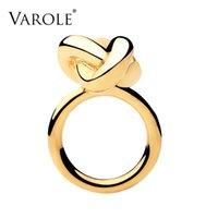 Varol Moda Infinity Düğüm Yüzük Tasarım Altın Renk Midi Yüzükler Kadınlar Için Takı Anel Feminino