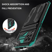For Samsung Galaxy A12 A32 A42 A52 A72 A22 A02 Stand Holder Cover Coque For Samsung S21 Note 20 Armor Shockproof Card Slot Case