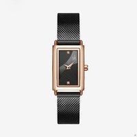 حار بيع 27 ملليمتر النساء الساعات الأزياء جنيف مصمم السيدات ووتش الخفية المشبك الفولاذ المقاوم للصدأ حزام التناظرية الطلب وجه ساعة اليد هدايا ل wo