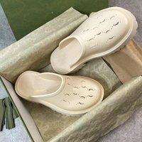 Luksusowa marka projektant kobiety platforma perforowane sandały kapcie wykonane z przezroczystych materiałów modne sexy uroczy Słoneczny plaża kobieta buty rozmiar 35-44