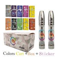 Colors Vapes Cartridges Vape Pens Disposable E Cigarettes Pen Atomizer Packaging Thick Oil Vaporizer 0.8ml Glass-Tanks 10-Stickers Top Quality Devices