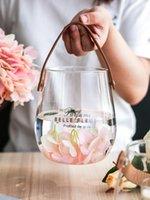花瓶北欧のシンプルなドライフラワー花瓶の装飾リビングルームテーブル装飾配置の水耕透明ガラスの結婚式
