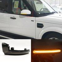 2PCS LED Dynamic Turn Signal Light Side Mirror Blinker Lamp For Land Rover Discovery 4 LR4 Range Rover Sport Evoque