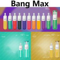 最新のBANG MAXの使い捨て可能な電子タバコ8.5ml Pod 1400mAhバッテリー3500パフ液体シリコーンマウスピースヴェペンペン10色