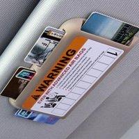 Organisateur de voiture EAFC Storage Stickers Stickers Sun Visor Titulaire de la carte Slot Plaque Avertissement Décoration Parking Cylisme