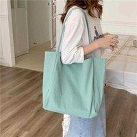 Eco Tote Women Canvas Shoulder Shopper Bag Effen Color Student Girls Book Pure Handbags