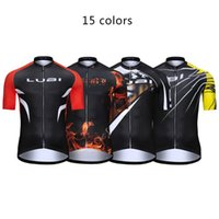 Racing Jackets 15 Colors LUBI Flame Tiger Men Cycling Jersey Bike Shirts Short Sleeve MTB Bicycle Clothes Motocross Clothing Wear Downhill