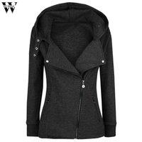 Women's Hoodies & Sweatshirts 2021 Zipper Warm Fashion Women Long Sleeve Jackets Hoody Jumper Overcoat Outwear Female S-5XL #ST
