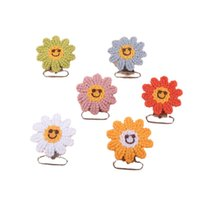 Baby Pacifiers Pacifier Clip Infant Feeding Newborn Accessories Diy Chain Crochet Flower Clips Embroidery B8893