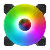 Dizüstü Soğutma Pedleri Coolmoon Yuhuan 140mm Fan Sessiz RGB 6Pin Aydınlatma Sessiz Masaüstü Bilgisayar Aksesuarları G99B