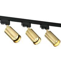 Industriel Vintage Loft American Copper Track Spotlights E27 Vêtements Bar Store Boutique Plafonnier Éclairage 1 phase
