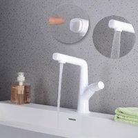 Banyo Lavabo Bataryaları Havzası Musluk Mat Siyah Beyaz Çekin Kaldırma Güverte Üstü Tek Delik Bir Kolu Soğuk Su Mikser Dokunun