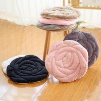 Cushion Decorative Pillow Rose Chair Cushion Beautiful Buttock Imitation Plush Padded Dining Tatami Seat Stool