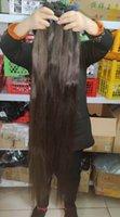 슈퍼 긴 캄보디아 직선 원시 인간의 머리카락 40 인치 1 번들 거래 처리되지 않은 모발 짜다