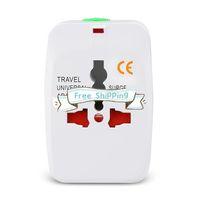 Stock dhl Бесплатная доставка Международная настенная зарядные устройства World Wide Travel Adapter AC Power Eu US все в одном домашнем вите с розничной упаковкой