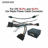 Car Radio Cable CAN BUS for Volkswagen VW 16pin Power Wiring Harness DVD GPS Android Multimedia Player Connector