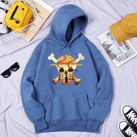 Ein Stück Luffy Crewneck Hoodies Männer Herbst Neue Lose Verdicken Kleidung Japan Harajuku Anime Hoodie Mode Druck Pullover