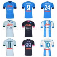 20 21 Soccer SSC Napoli 14 Mertens Jersey 20 Zielinski 26 Koulibaly 5 Allan 25 Ospina Meret Osimhen Milik Insigne Camicia da calcio Kit