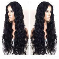말레이시아 인간의 머리카락 실크 탑 레이스 프런트 가발 바디 웨이브 전체 레이스 인간의 머리 가발 아기 머리 6A Glueless 레이스 가발