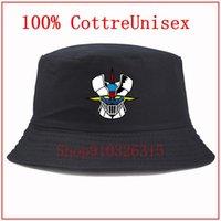 Fashion wild cotton Anime Mazinger Z Fisherman's hat Cartoon Pattern Cotton Men Bucket Hat Stylish Panama