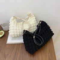 Evening Bags Fashion Solid Color Lattice Tote Shoulder Bag Casual Ladies Underarm Large Capacity Handbags Bolsas Feminina Soft