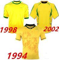 Retro 1994 1998 2002 BEBETO Fussball Trikots Ronaldo Ronaldinho Weltcup-Vintage 94 98 02 Klassische Fußball-Shirts MAILLOT CAMISETAS DE FUTBOL