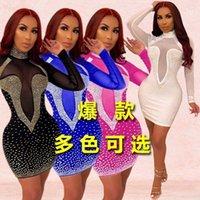 Moda Dot Cuciture Deep Paty Sexy Boho Dress Dress Sleeve Boho Mezza Donne Wave Point Womens Summer Womens Dress 2016 Abito moda lungo casual