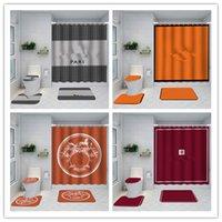 printed classical design Shower Curtains waterproof Bathroom supplies multifunctional partition luxury curtain bath door mat