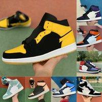 1 1s sapatos de basquete homens mulheres green toe jogo royal court roxo novo amor quebrado Backboard Sports Shoe CD99