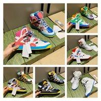 2021 Designer di lusso Donne da uomo Scarpe casual cestino Basket Sneakers High-Top Contrasto Colore Caviglia Insosse Isssentali Sport Shoot Moda Comodo Qualità superiore con scatola