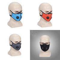 ABD stoğu! Tasarımcı Lüks Bisiklet Yüz Maskesi Filtre Ile Aktive PM2.5 Anti-kirlilik Spor Koşu Eğitim Koruma Toz Maskesi 295 x2