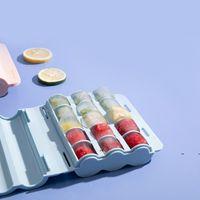 Nieuwe 15 Golfvormige Cubs Gereedschap Food Grade Siliconen Ice Cubes Maker Jelly Making Mold met Cover EWF7461