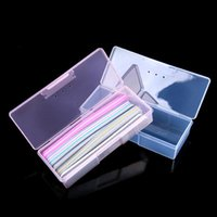 Nail Art Kits Container Box Plastic Transparent Manicure Tools Storage Dotting Drawing Pens Buffer Grinding Files Organizer Case