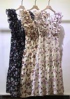 Estación Europa 2021 Nuevo Comercio Exterior Vestido de mujeres de estilo europeo y americano corbata corbata corbata impresión decorativa falda sin mangas